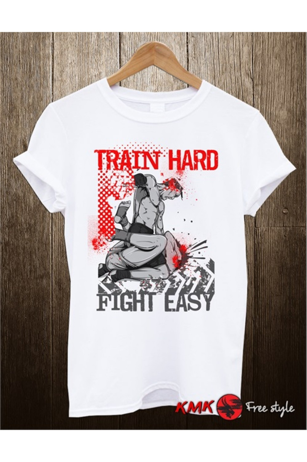 Train Hard Printed T shirt | Sport Tee | Fitness T-shirt | Long and Short Sleeves Shirt
